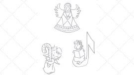 Vintage Workbasket - Embroidery Pattern - 3 Sweet Angels