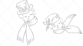 Vintage Workbasket Embroidery Pattern - Snow Gentleman and Snow Lady