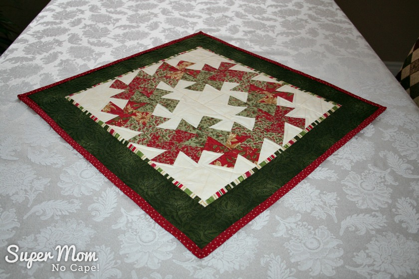 Quilted Table Topper made by Pauline