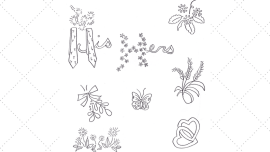 Vintage Workbasket Embroidery Pattern - His & Hers and Other Small Motifs