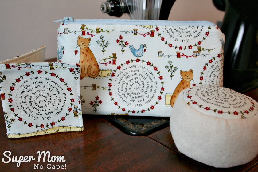 Zippered Pouch, Pincushion and Needle Book - 100th Stitchery Link Party Giveaway Prize