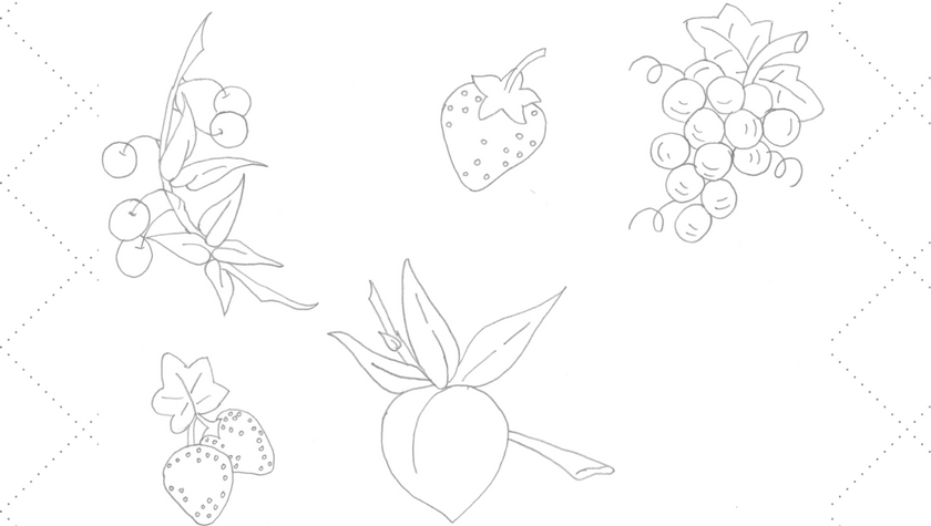 Vintage Embroidery Monday - Variety of Fruits