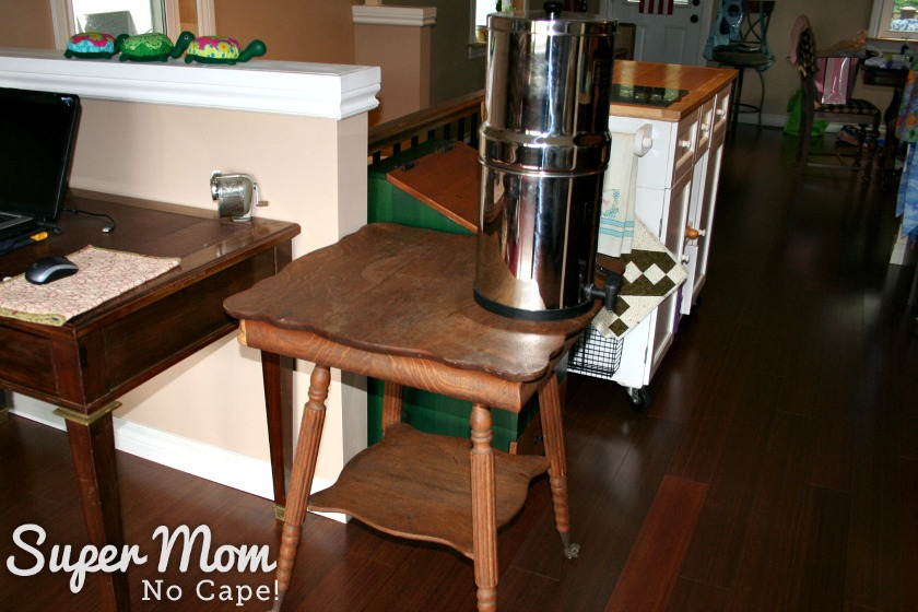 Thrift Store Score - Occasional Table - too big for holding ust the Berkey Water Filter