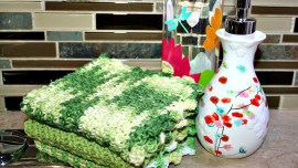 Crocheted Seed Stitch Dishcloth Pattern - 3 dishcloths ready to use