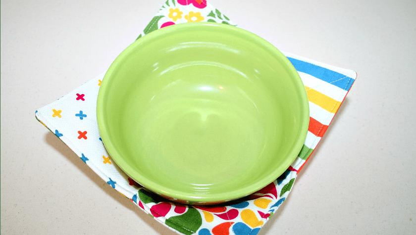 charm square soup bowl cozy tutorial