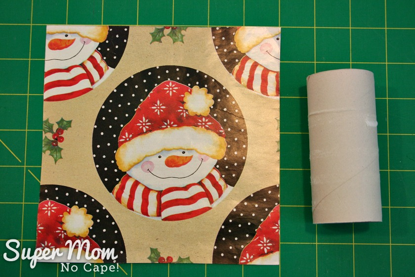 Halloween Treat to Christmas Party Favor - Cut squares of paper 6.5 inches square
