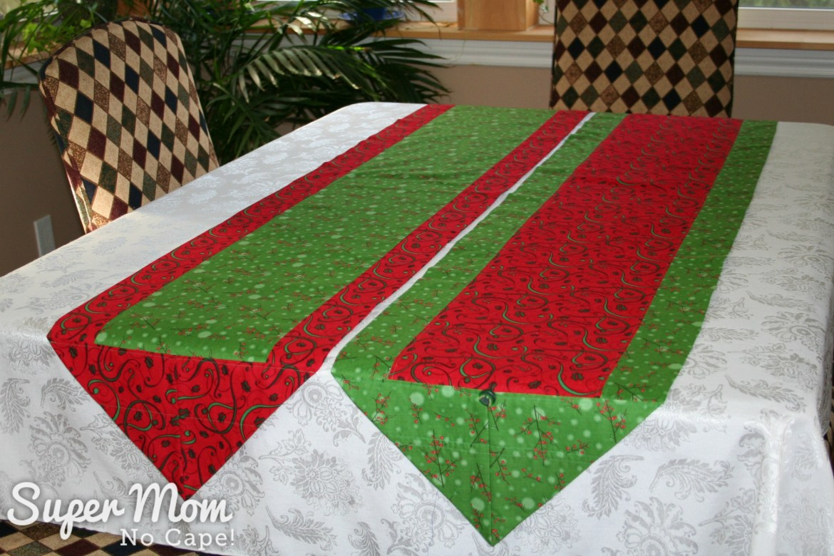 One Hour Table Runner - Christmas one hour table runners in red and green