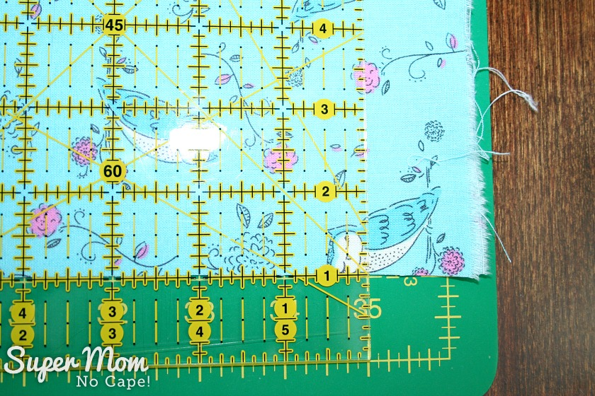 One Hour Table Runner - Cut length to 70 inches by placing ruler on folded fabric at the 35 inch mark