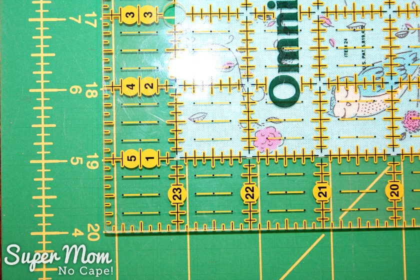 One Hour Table Runner - How to measure for longer table runners - Step 1