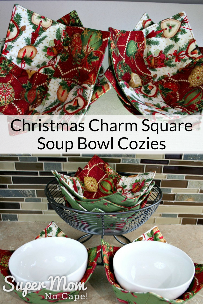 Christmas Charm Square Soup Bowl Cozies Quick And Sew