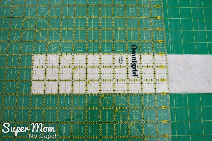 How to Join Leftover Strips of Quilt Batting - 3 Square off one end of the batting strip