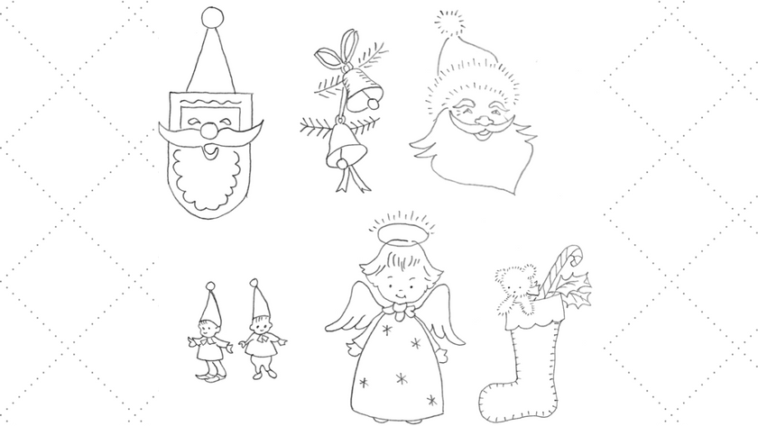 Free Christmas Embroidery Patterns Archives Super Mom No Cape