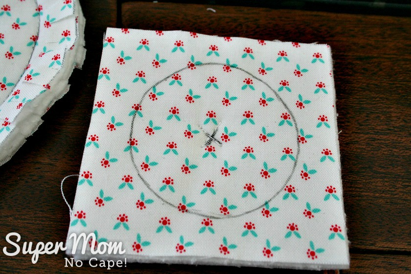 Sew an X in the center of the bunny tale