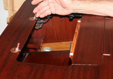Remove Vintage Singer from Cabinet