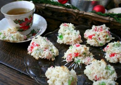 Cherry Coconut Drop Cookies