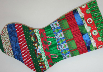 Quilt-As-You-Go Stocking