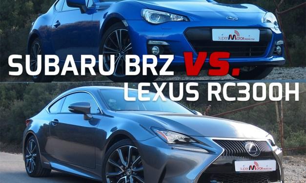Subaru BRZ vs. Lexus RC 300H, dos deportivos muy diferentes