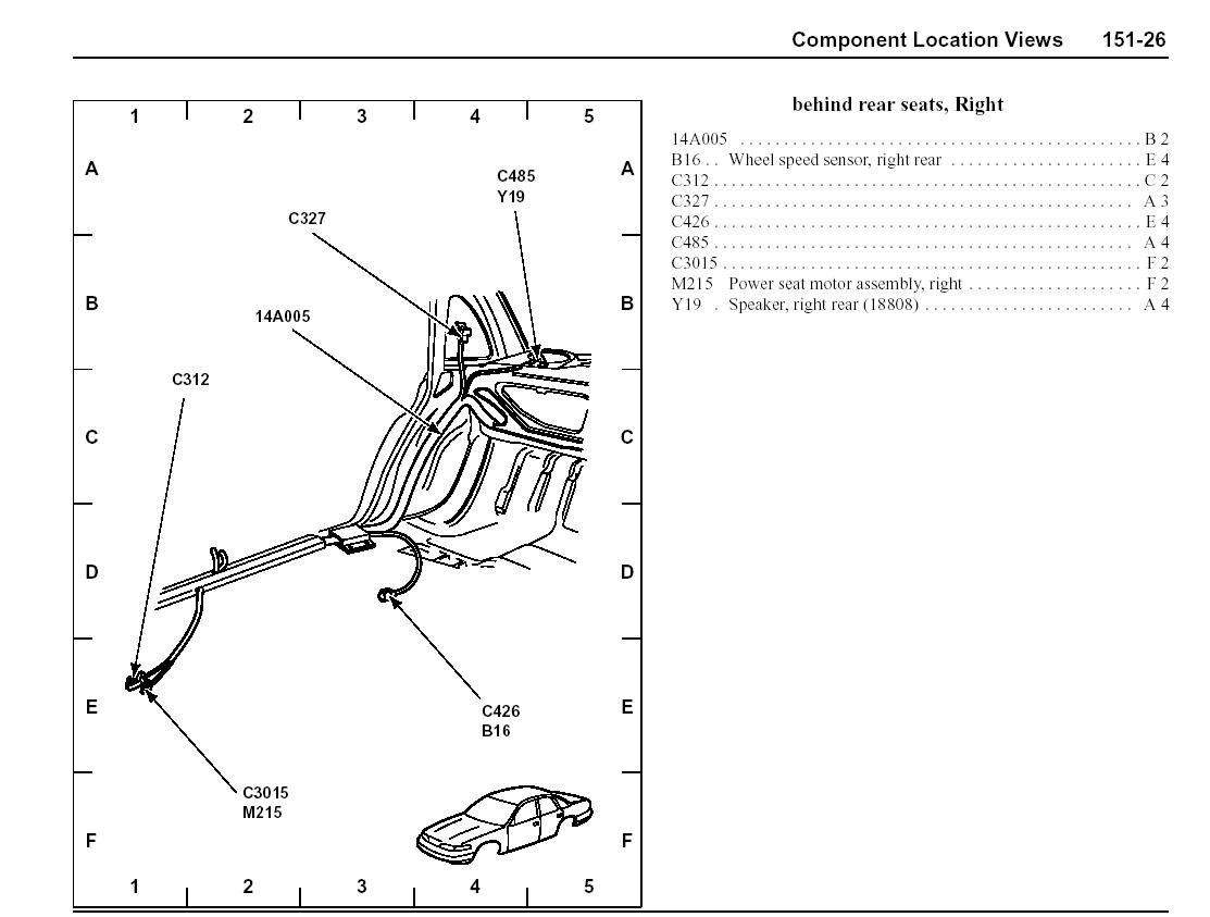 Mercury Grand Marquis Panther Body Chassis Misc Diagrams And Pinouts Picture
