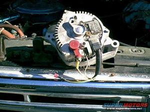 Installing HD alternator in 95 F350460  Ford Truck Enthusiasts Forums