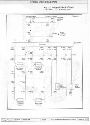 1985 Ford Crown Victoria LTD Wire Diagrams picture