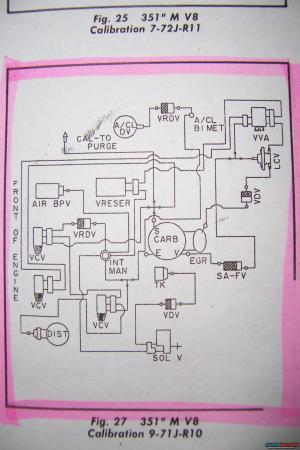 1979 Ford Ranchero Vacuum Diagram picture | SuperMotors