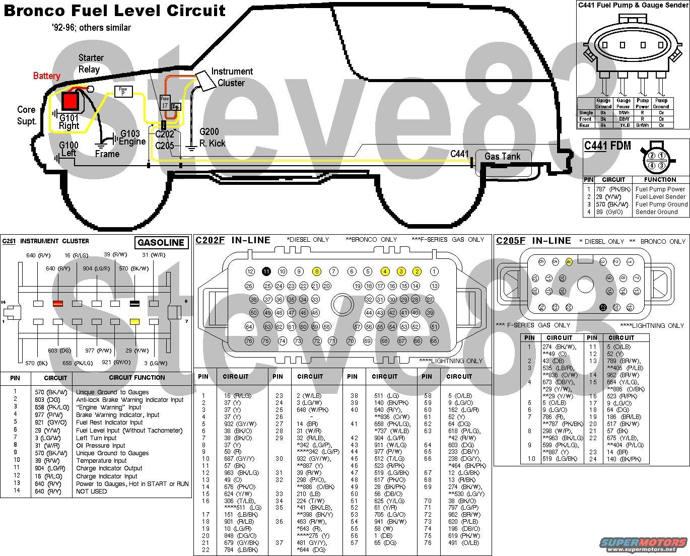 Ford Bronco Fuel Level Sender Repair Picture