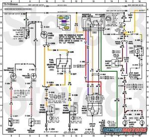 1976 Ford Bronco Tech Diagrams picture | SuperMotors