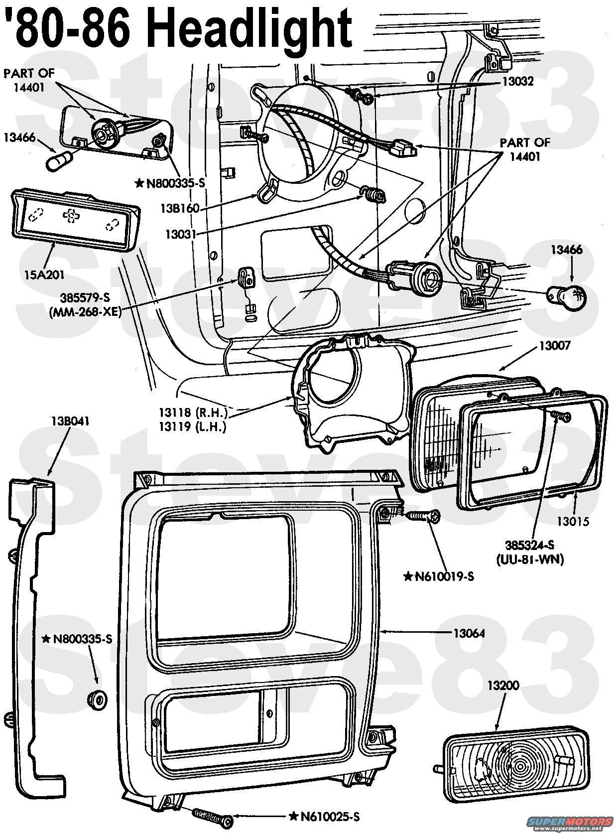 Ford Bronco Diagrams Picture