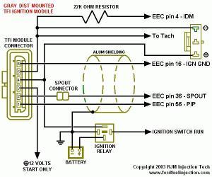 Remote TFI Conversion using '92 Distributor (49)  Ford