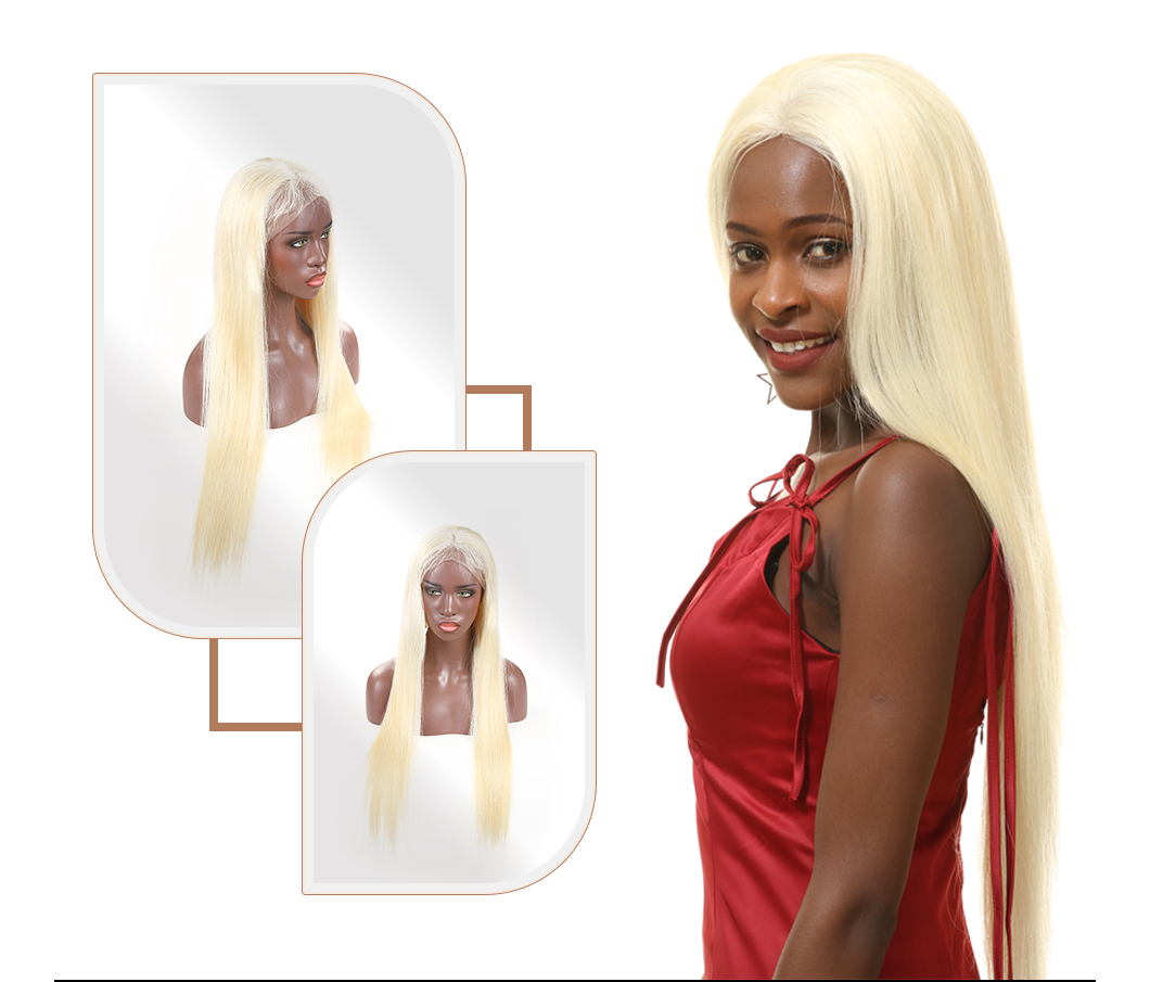613 Blonde Wig Lace Front Human Hair Wigs Virgin Hair Best