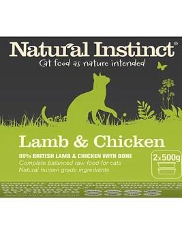 Natural Instinct Lamb and Chicken Cat Food 2 x 500g Tub