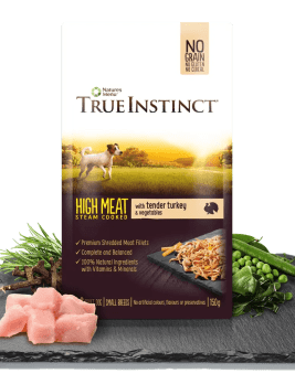 True Instinct High Meat Chicken Fillet with Tender Turkey for Small Breed Dogs 150g Pouch