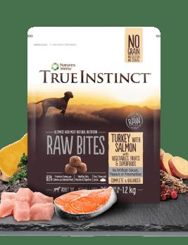 True Instinct Raw Bites Turkey with Salmon 1.2kg Bag