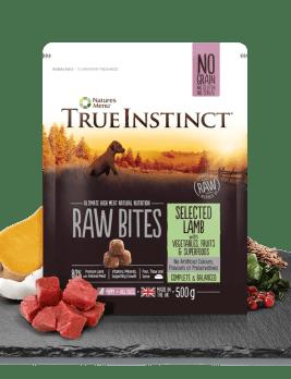 True Instinct Raw Bites Puppy Lamb 500g Bag