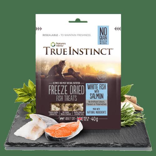 True Instinct Cat Treats Whitefish and Salmon 40g Bag