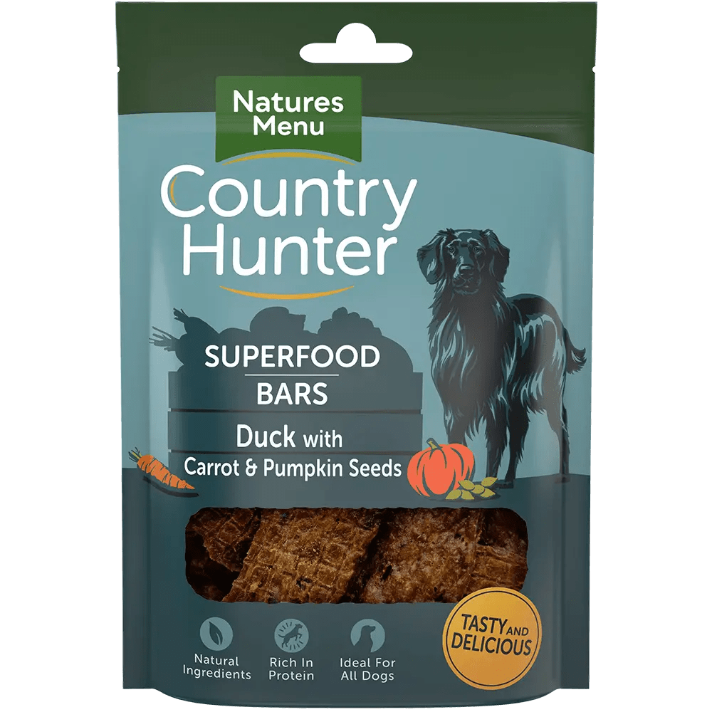 Country Hunter Superfood Bars Duck 100g Pack