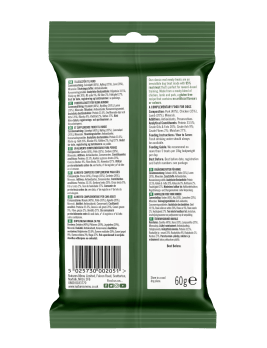 Natures Menu Real Meaty Dog Treats with Lamb and Chicken 60g Back of Pack