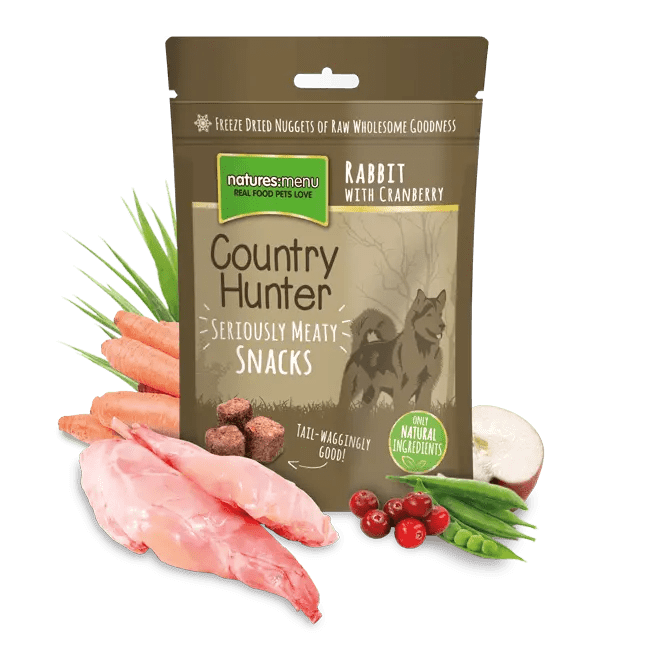 Country Hunter Freeze Dried Dog Snacks Rabbit 50g Bag