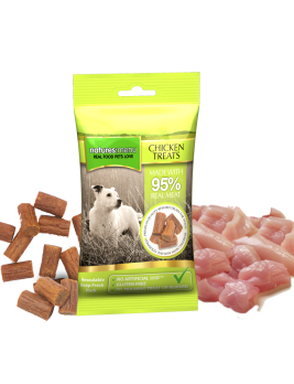 Natures Menu Real Meaty Dog Treats with Chicken 60g Bag