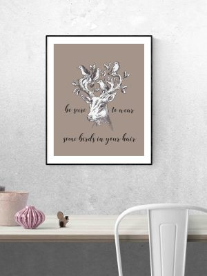plakat z jeleniem z angielskim napisem