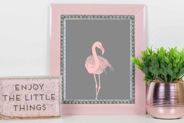 plakat różowy flaming do pobrania i wydruku