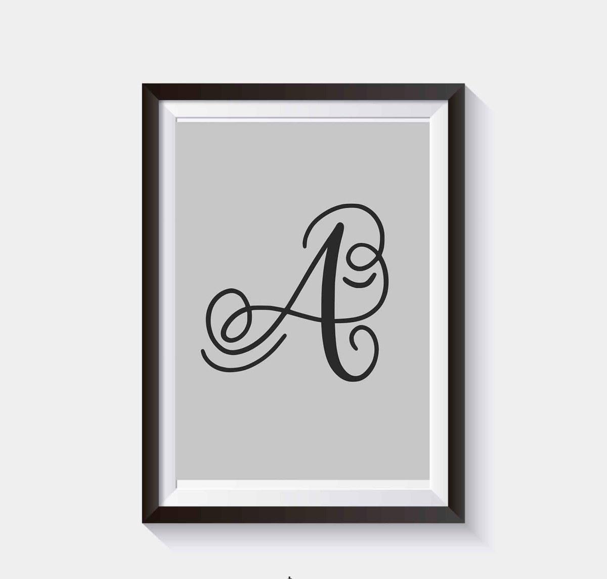 Plakat do samodzielnego wydruku - Litery alfabetu na plakacie