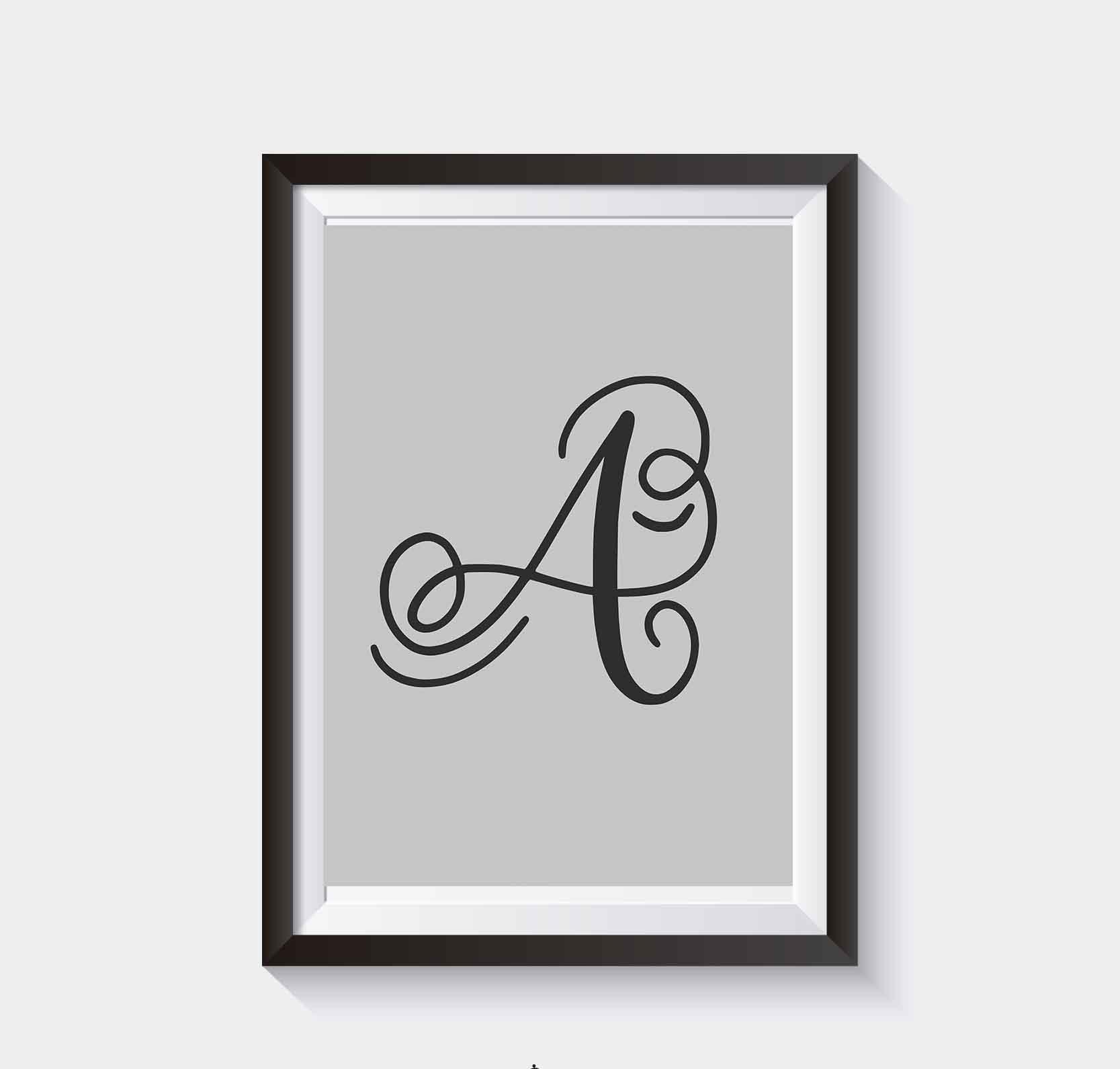 Plakat Do Samodzielnego Wydruku Litery Alfabetu Na Plakacie Litera A
