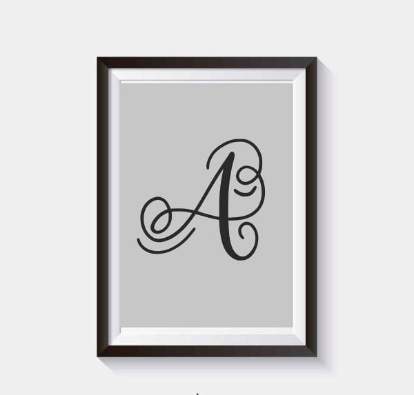 Plakat do samodzielnego wydruku Litery alfabetu na plakacie