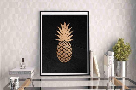 plakaty z owocami ananas