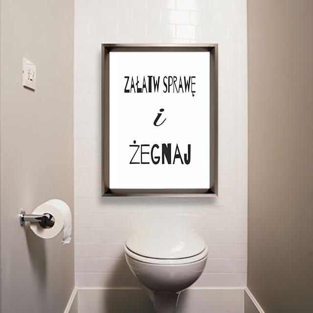 Śmieszne plakaty do toalety do samodzielnego wydruku