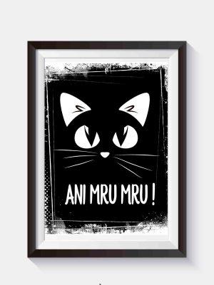 czarny kot plakat na ścianę do pobrania