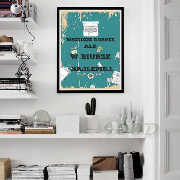 Plakat vintage na ścianę do biura