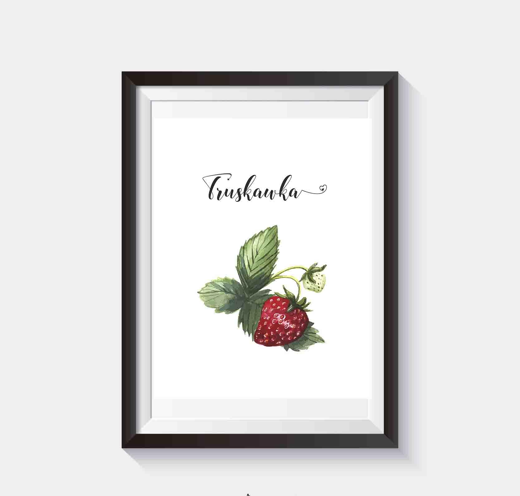 Darmowe Plakaty Do Kuchni Owoce Plakat Z Truskawką Superplakatpl