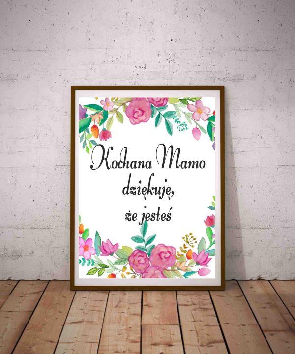 Kochana Mamo dziękuję że jesteś - plakat na Dzień Matki do pobrania